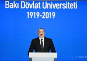 Dövlət başçısı BDU-nun yubiley tədbirində iştirak edib