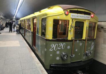 Bakı metrosunda Yeni il - retro vaqonlarda nostalji səyahət
