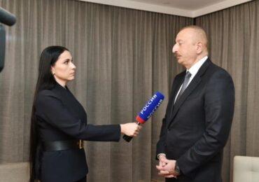 """Prezident İlham Əliyev Rusiyanın """"Rossiya-24"""" televiziya kanalına müsahibə verib"""