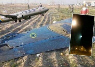 İran səmasında təyyarənin raketlə vurulduğu anı əks edən video təqdim olunub